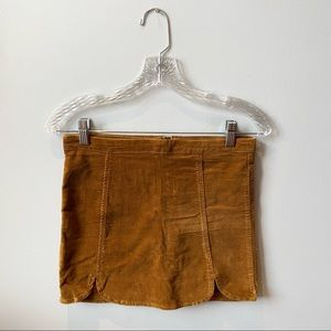 Velvet Brown Mini Skirt